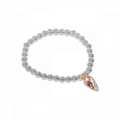 Love The Links Ball Bracelet Elongated Heart (3 Colours)