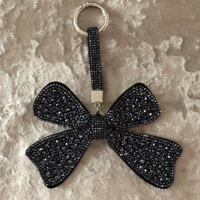 Key Ring/Bag Charm Diamante Bow
