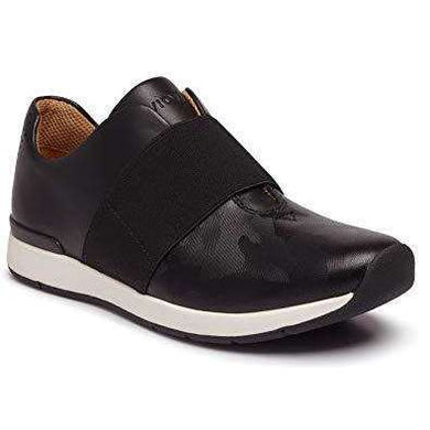Trainer With Stretch Panel Leather Vionic Codie Black