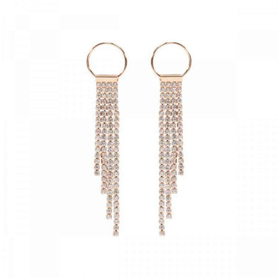 Love The Links Circle & Sparkle Drop Earrings (3 Colours)