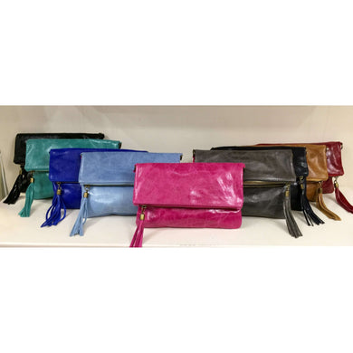 Missy All Leather Clutch Bag (Various Colours)