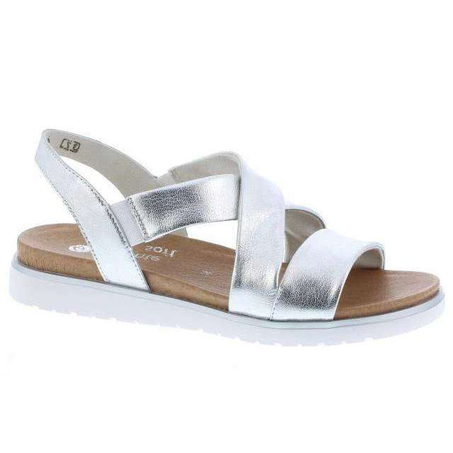 Sandal Low Wedge Remonte Silver