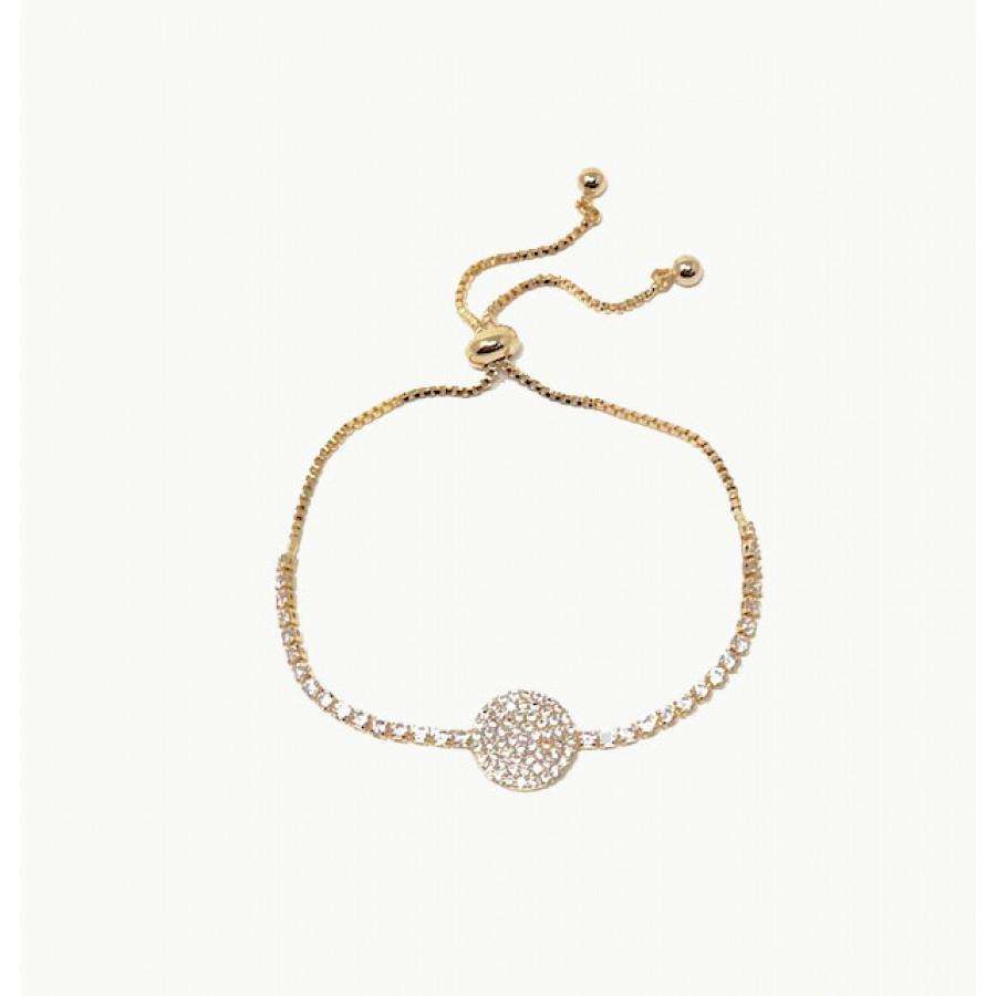 Love The Links Sparkly Disc Pull Bracelet (3 Colours)