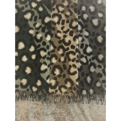 Soft Multicoloured Leopard Scarf (3 Colours)