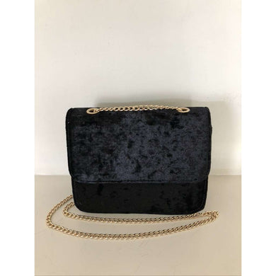 Crushed Velvet Box Shaped Bag