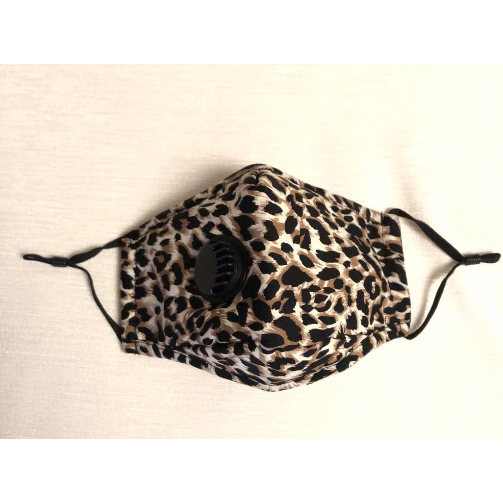 Face Mask Filter Leopard Beige