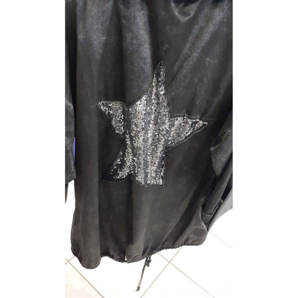 D.E.C.K Sequin Star Hooded Jacket