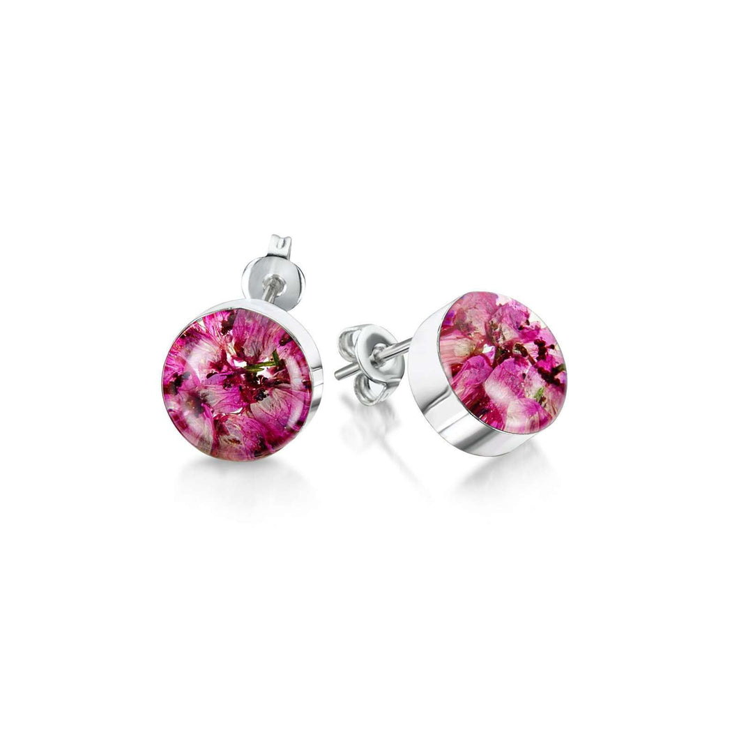 Shrieking Violet Silver Stud Earring - Heather
