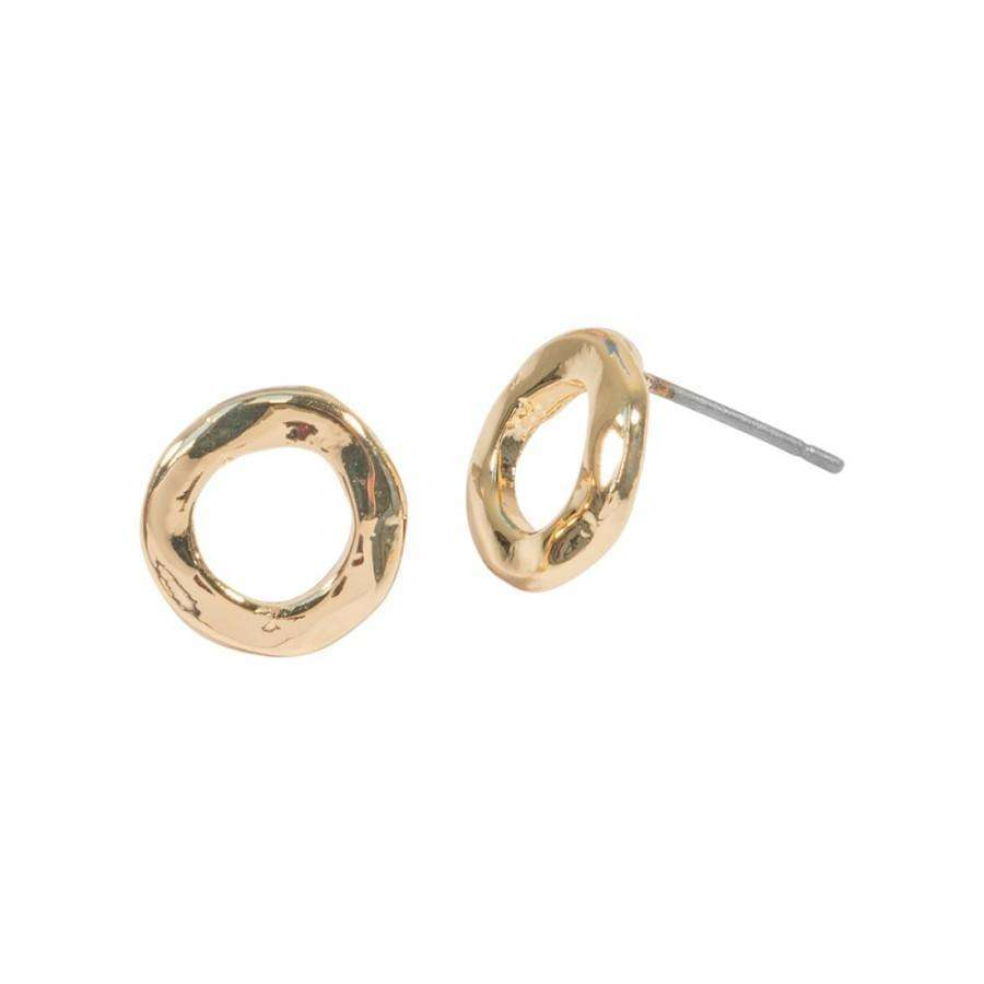 Love The Links Circle Stud Earrings (3 Colours)