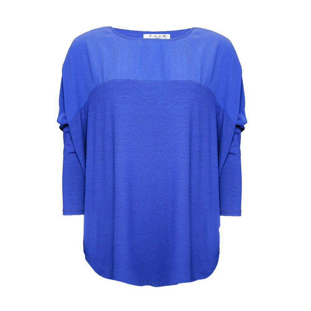 D.E.C.K. Cowl Neck Dual Texture Top (5 Colours)