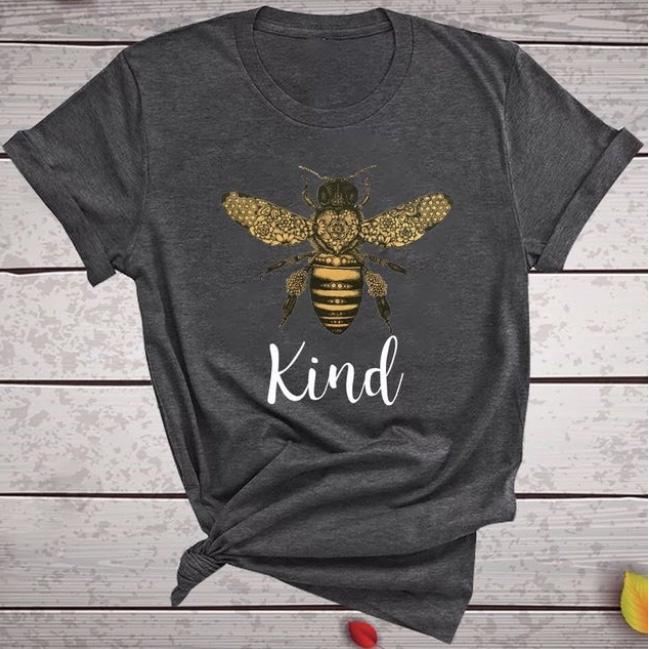 Bee Kind T-Shirts Grey