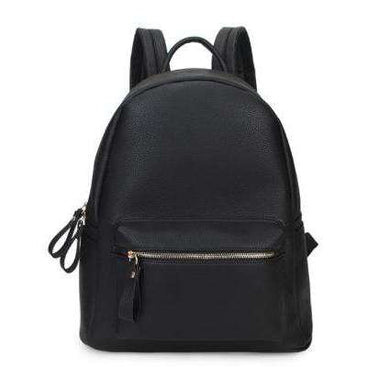 Backpack With Front Pocket In a Leather Look Finish (Available In 2 Colours)