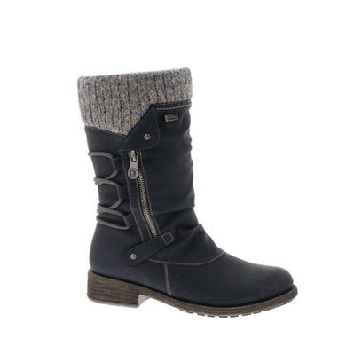 Remonte Black/graphite Mid Calf Boot