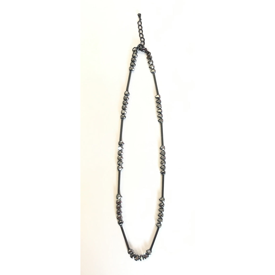hematite/pewter necklace