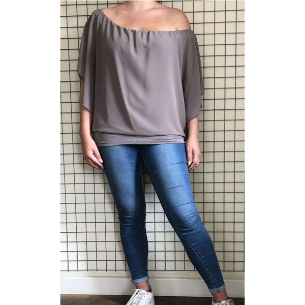 D.E.C.K Kendra Plain Chiffon Top (6 Colours)