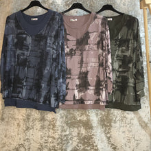 Ladies Top Acid Wash Print (4 Colours)