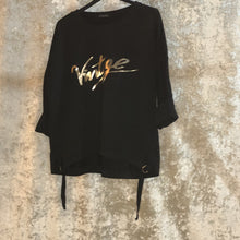 Sweatshirt Buckle Detail 'Vintage' Slogan Black
