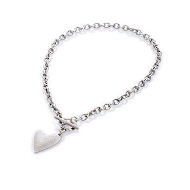 Danon True Love T-Bar Chain Necklace Silver