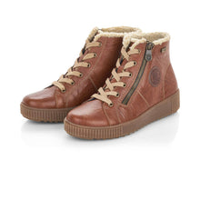 Remonte Brown/Tan Water Resistant Lace-Up Ankle Boots