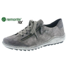 Remonte Ladies Zip Lace up water resistant Grey Combination Trainer