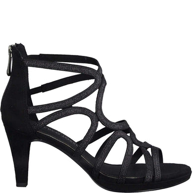 Boot Ankle Mid Heel Strappy Sandal Marco Tozzi Black