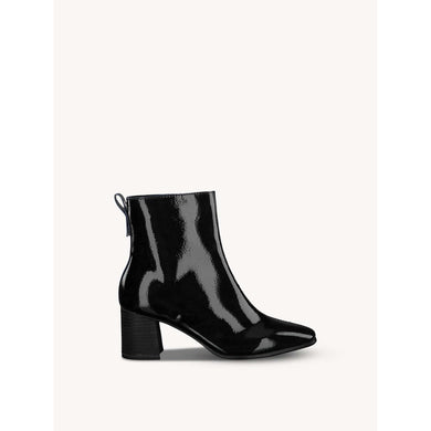 Boot Ankle Block Heel Tamaris Black Patent