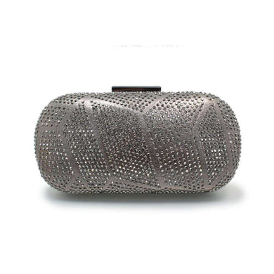 Gemstone Clutch Lunar Francie Pewter