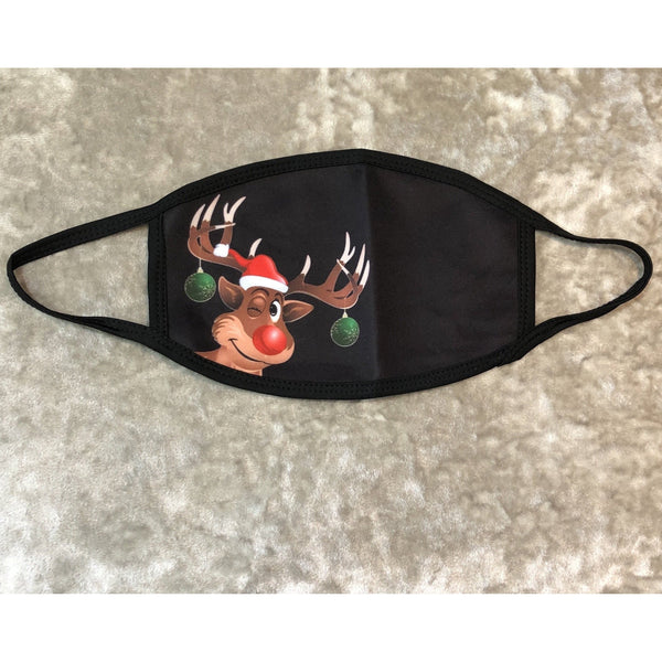 Face Mask Santa's Cheeky Reindeer