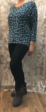 Leopard V Neck Jumper (2 Colours)