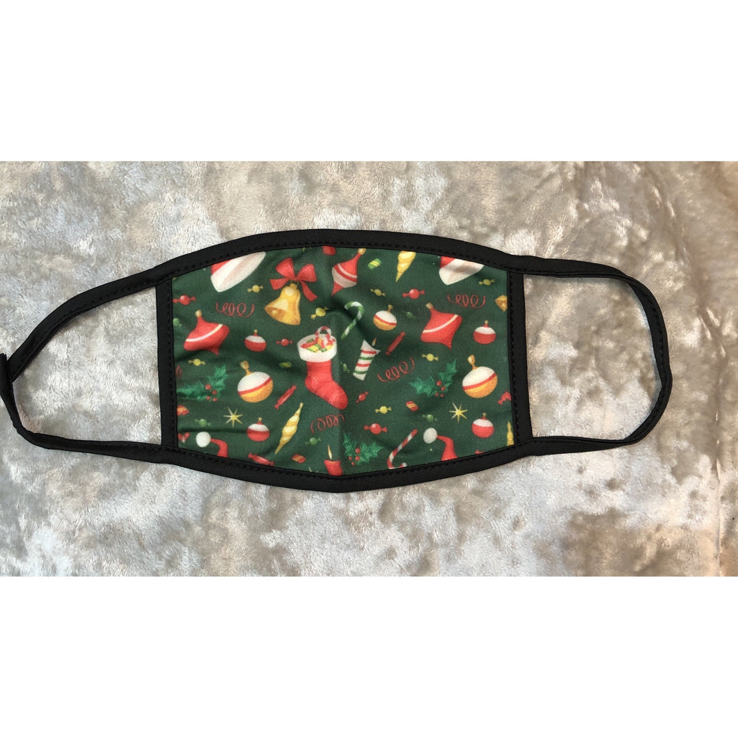 Face Mask Christmas Stocking Print