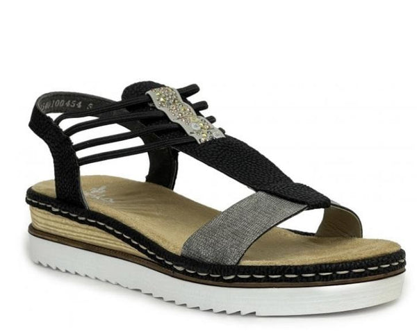 Rieker 679L1-90 Ladies Black Combination Sandal