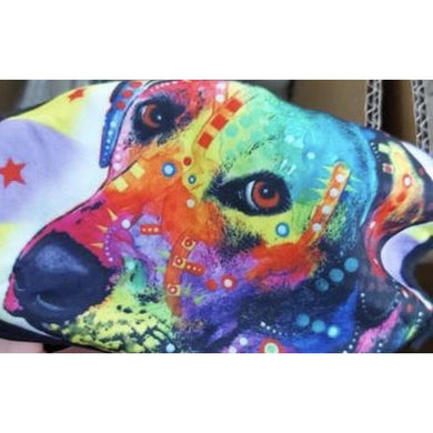 Face Mask Multi coloured dog