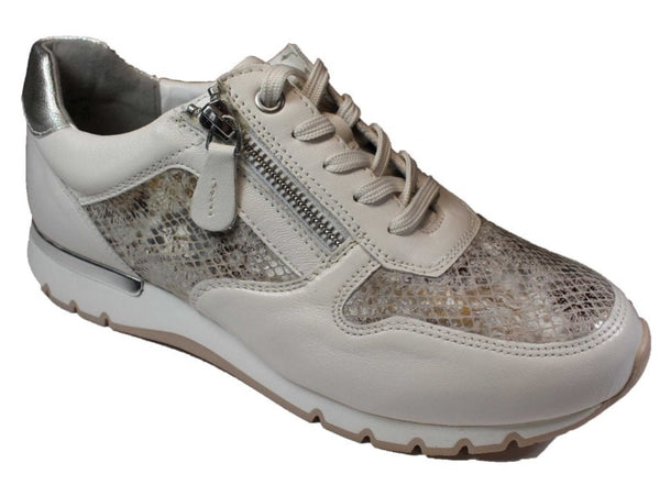 Caprice 23601-26 Women's Grey Snake Combination Leather Trainer