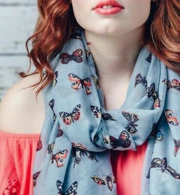 Missy Scarves Butterflies Cynthia Mint Green