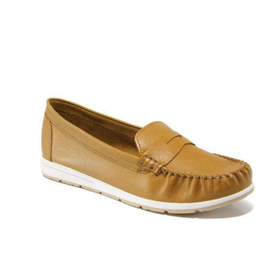 Leather Loafer Marco Tozzi Nut