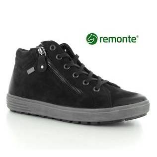 Remonte Black Nubuck Leather Trainer Style Boot