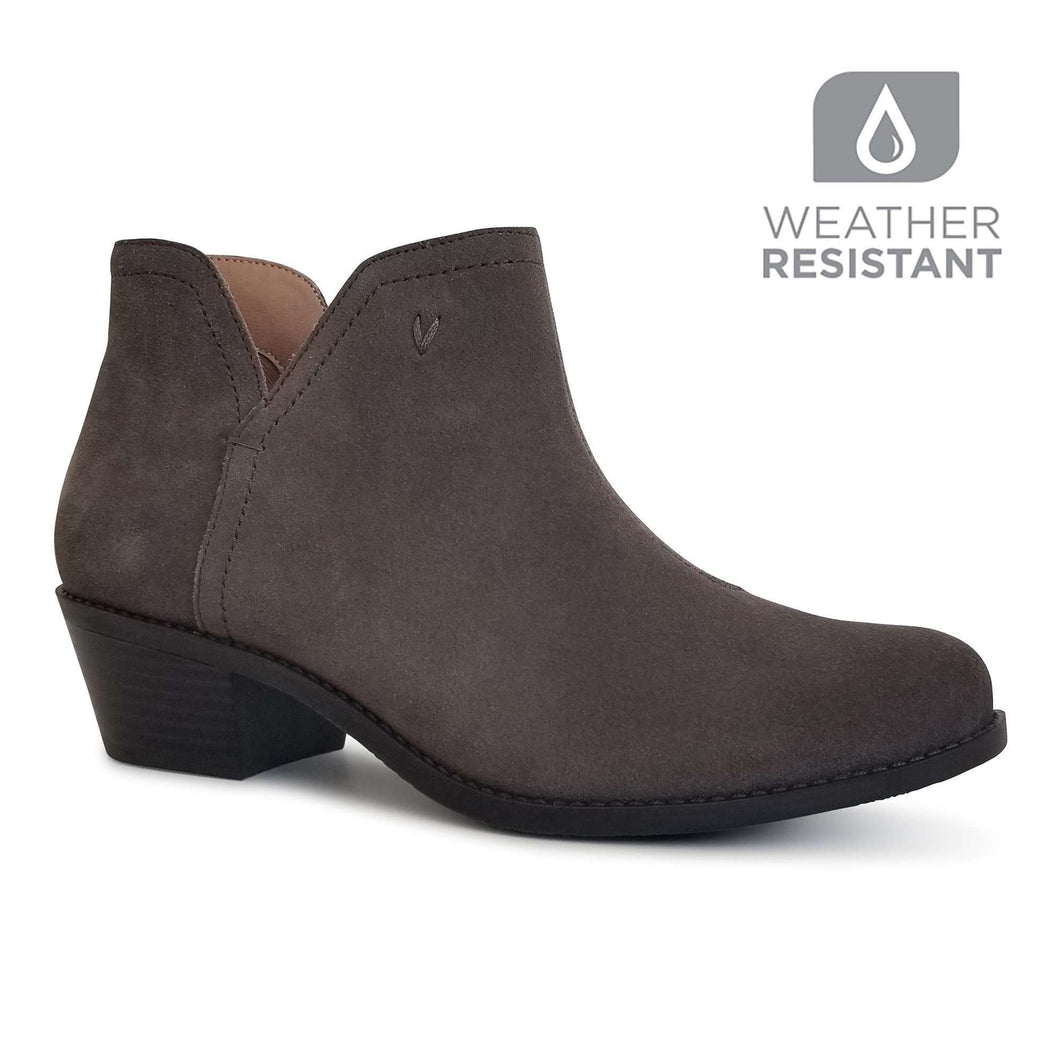 Boot Ankle Water Resistant Suede Vionic Liv Grey