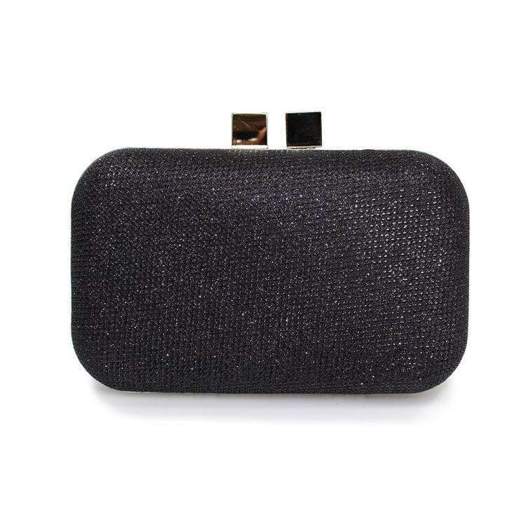 Lunar Sparkling Black Box Clutch