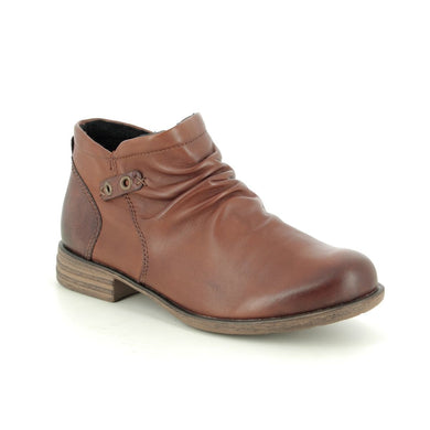 Remonte Brown/Tan Casual Comfort Leather Ankle Boots