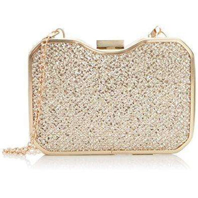 Lunar Rosie Gold Box Clutch