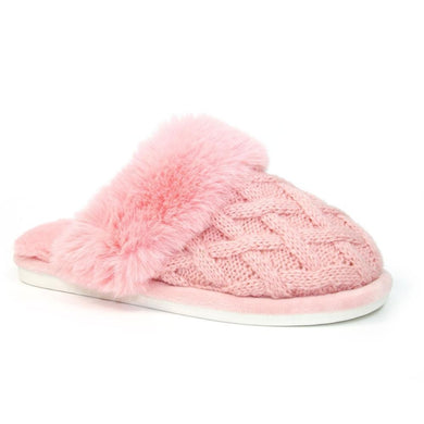 Lunar Shannon Quilted Slipper Pink
