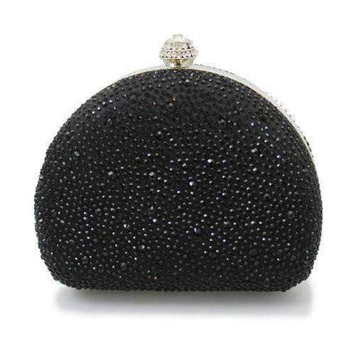Lunar Davina Black Diamante Box Clutch