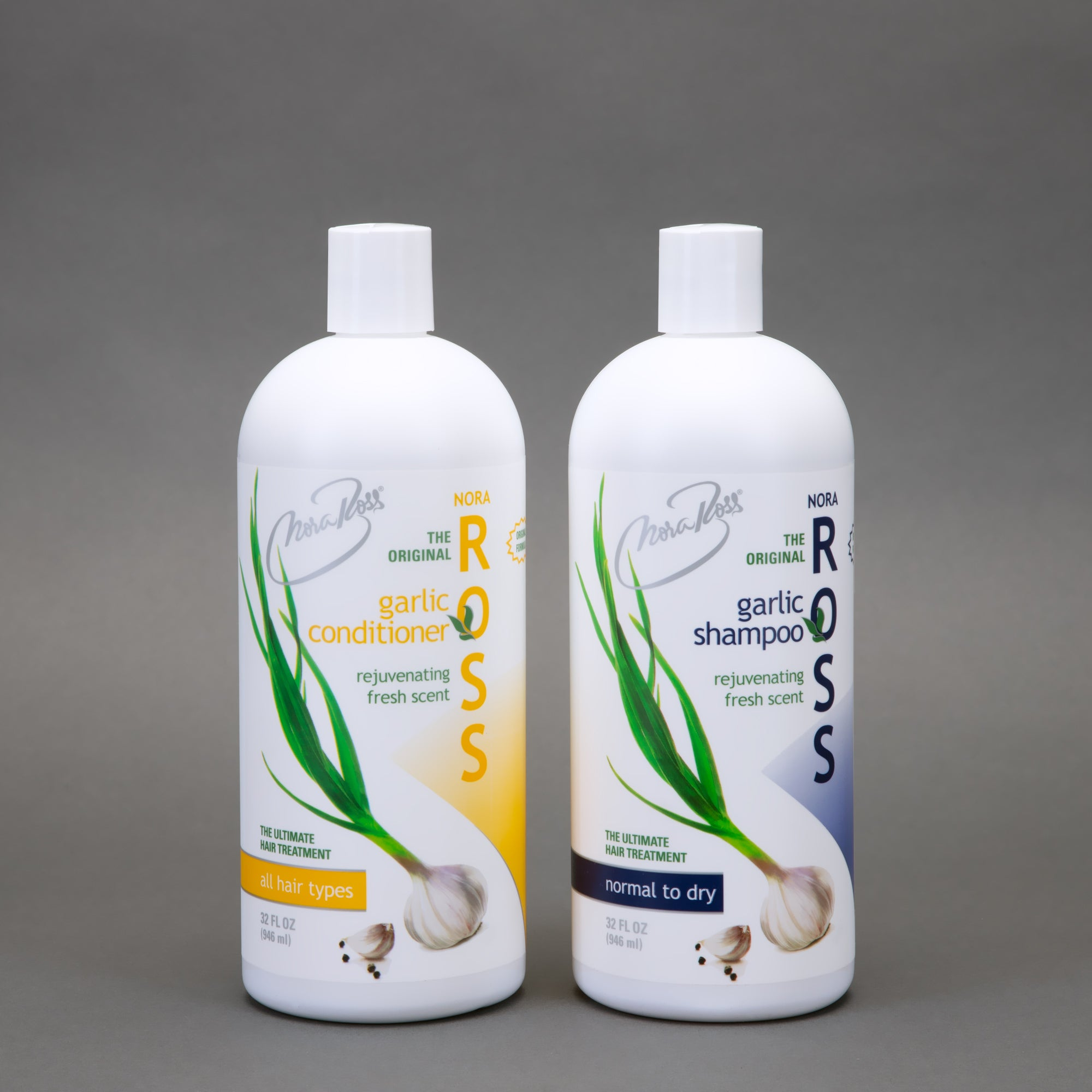 Nora Ross Garlic Extract Shampoo and Conditioner Set