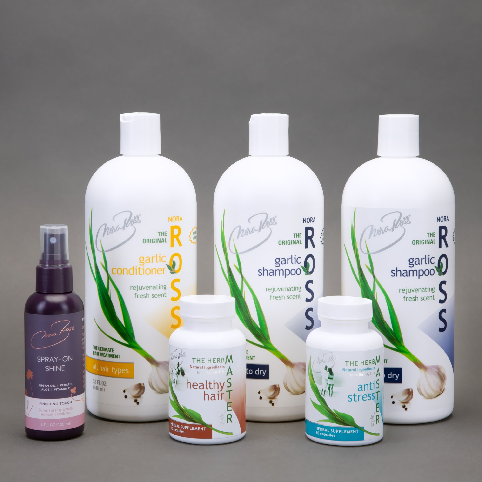Complete Healthy Hair Supplements and Shampoo Bundle for Normal to Dry Hair