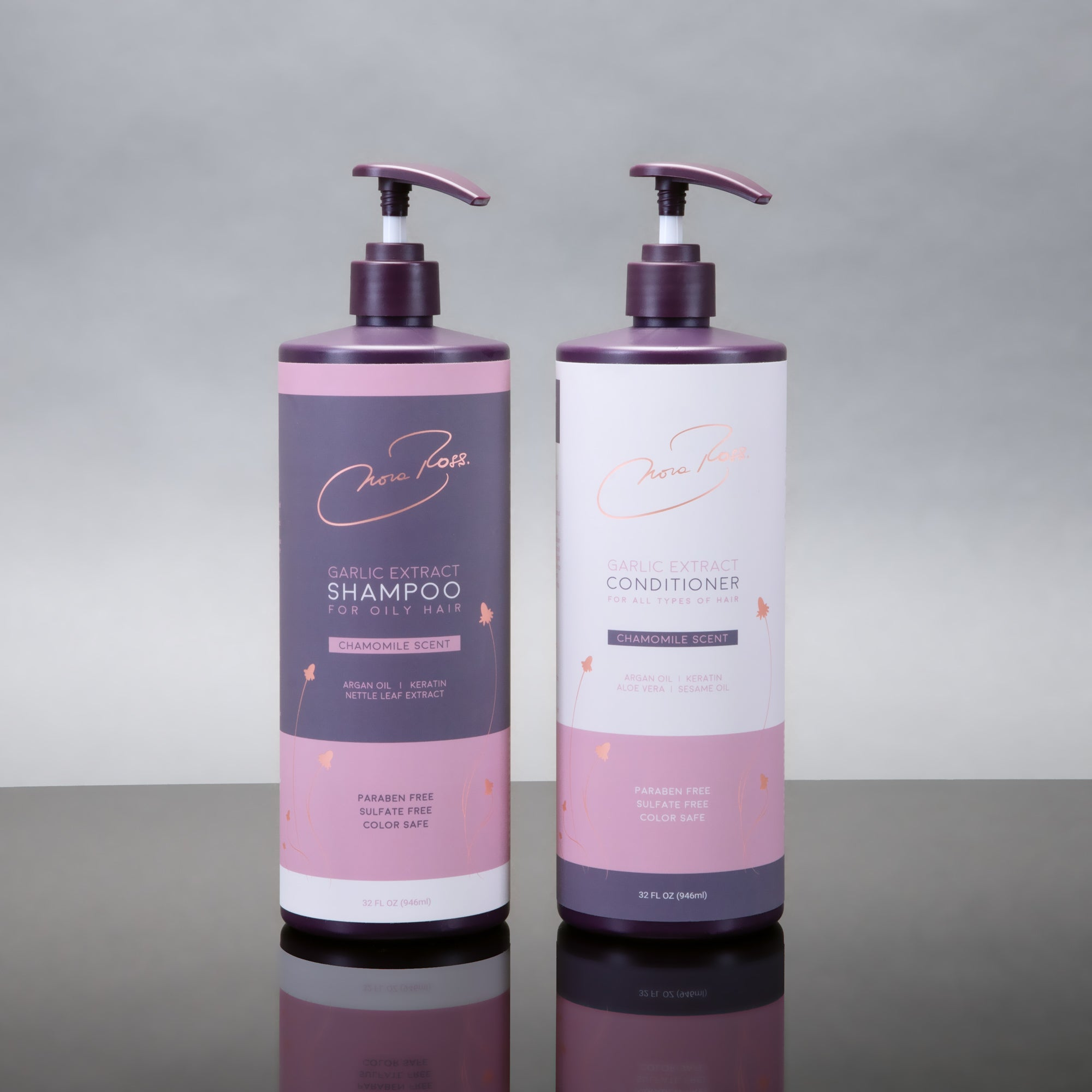 NEW! Paraben and Sulfate Free Garlic Extract Shampoo & Conditioner Bundle