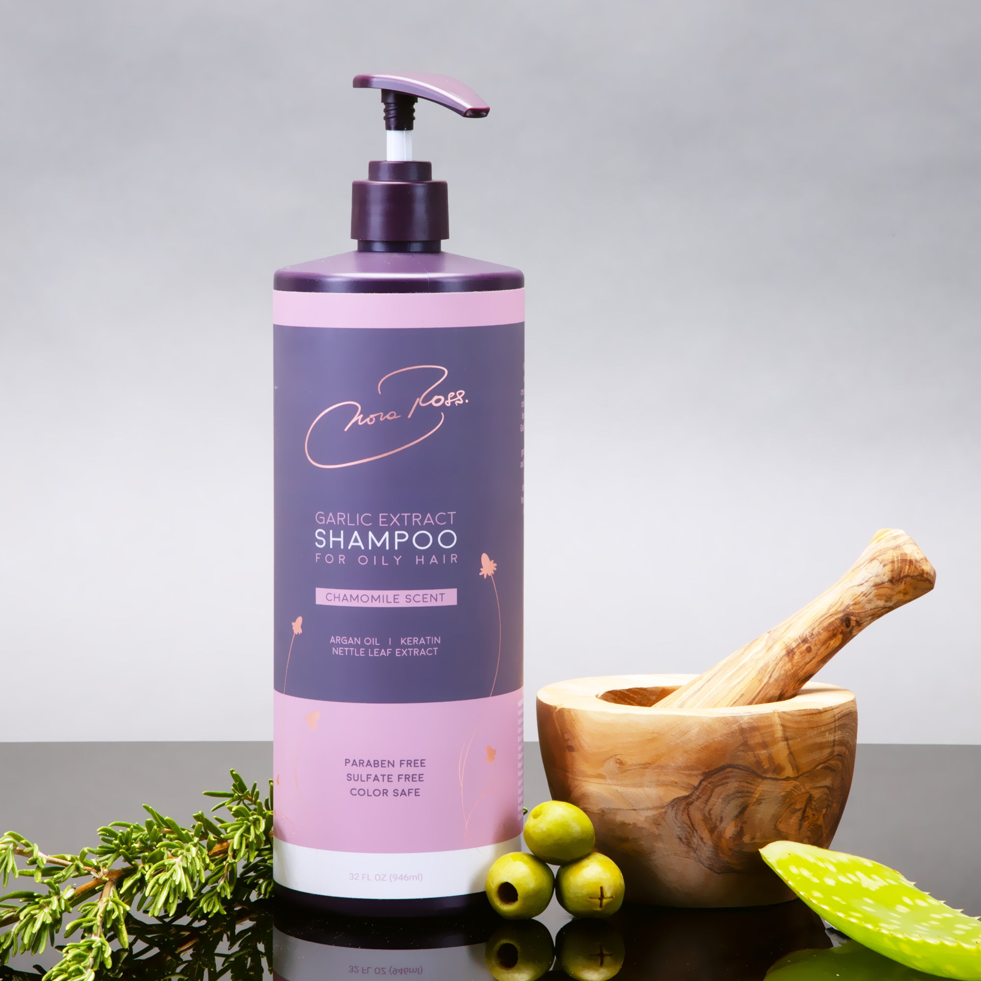 Paraben and Sulfate Free Garlic Extract Shampoo For Oily Hair
