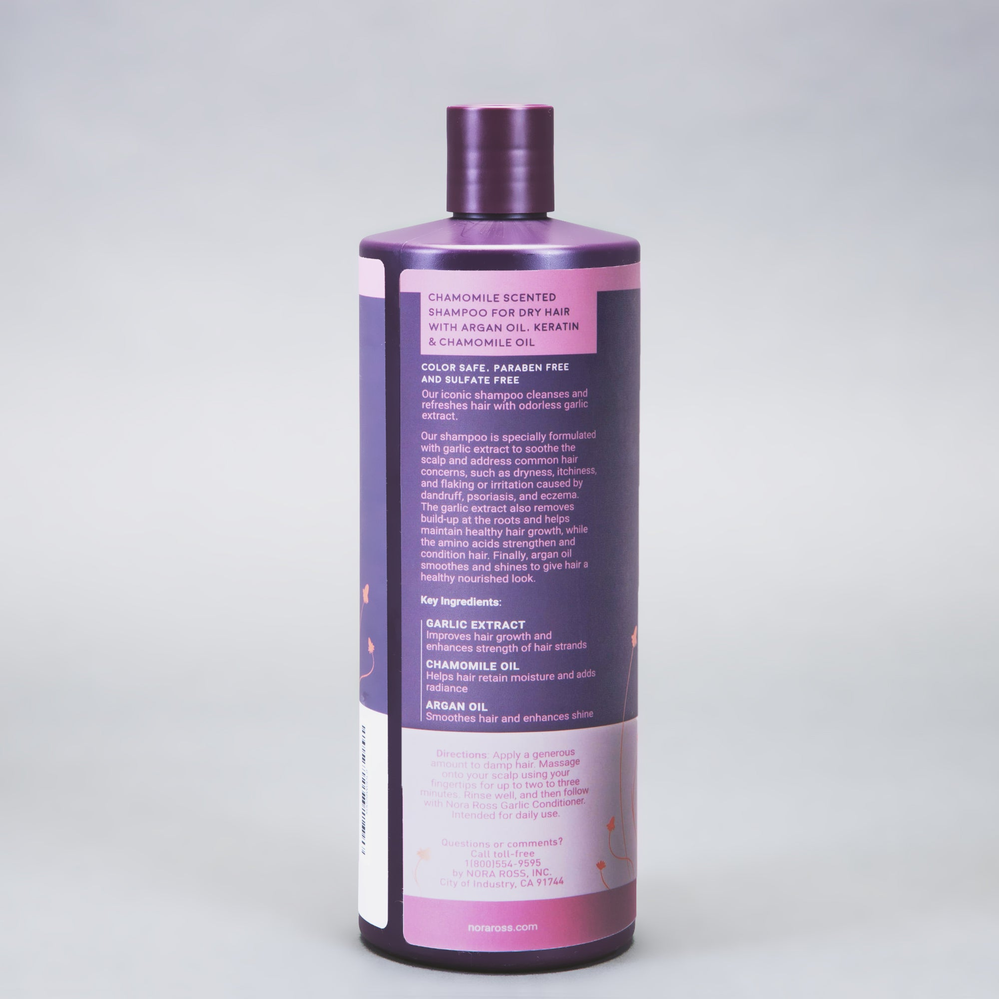 Paraben and Sulfate Free Garlic Extract Shampoo For Normal to Dry Hair