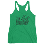 It's all about the Husky Ladies' Triblend Racerback Tank - Siberian Husky