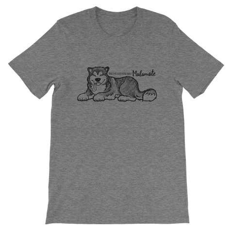 True friend Malamute Unisex Short Sleeve Jersey T-Shirt - Alaskan Malamute