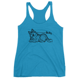 True Friend Husky Ladies' Triblend Racerback Tank - Siberian Husky